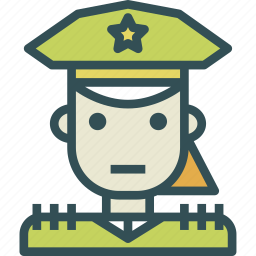 avatar, character, policefemale, profile, smileface icon