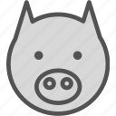 animal, avatar, character, horse, profile, smileface icon