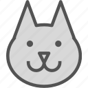 animal, avatar, character, dog, profile, smileface, wolf icon