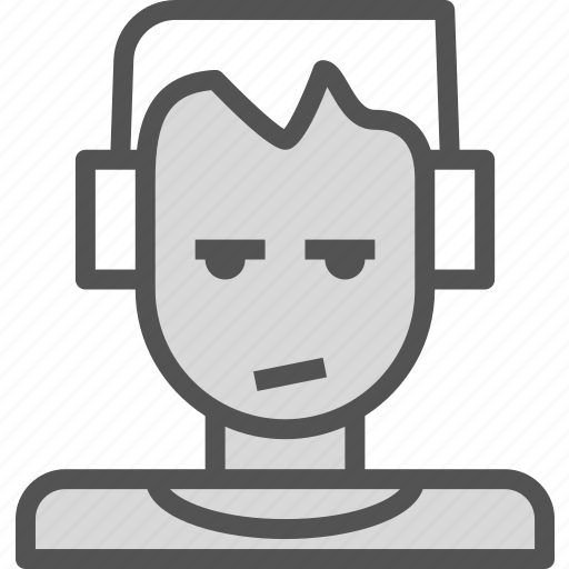avatar, character, music, profile, smileface icon