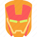 avatar, character, ironman, movie, profile, smileface, superhero icon