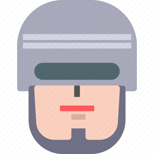 avatar, character, profile, robocop, smileface icon
