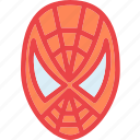 profile, spiderman, character, avatar, smileface icon