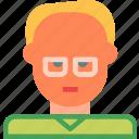 avatar, character, profesor, profile, smileface icon