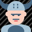 avatar, character, profile, smileface, viking icon