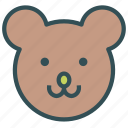 animal, avatar, bear icon