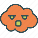 angry, avatar, cloud, yelling icon
