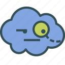 avatar, cloud, evil, genius icon