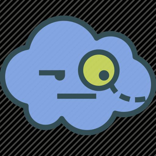 avatar, cloud, evil, genius icon