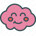 avatar, cloud, face, happy icon