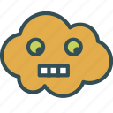 avatar, cloud, scared, shocked icon