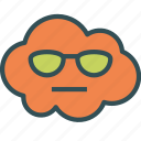 avatar, cloud, glasses, sun icon