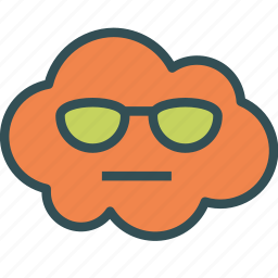 avatar, cloud, glasses, sun icon
