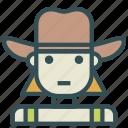 avatar, cowgirl, farm, female, human icon