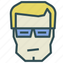 avatar, glasses, human, man, normal icon