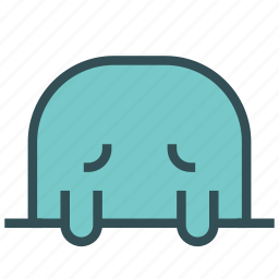 animal, avatar, face, fictional, mole, sad icon
