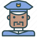 avatar, human, man, officer, police icon