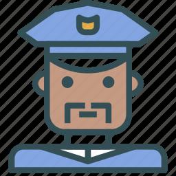 avatar, human, man, officer, police icon