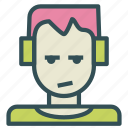 avatar, headphones, human, kid, punk icon
