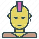 avatar, human, kid, male, punk, rock icon