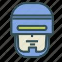 avatar, humanoid, robocop, robot, superhero icon