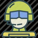 avatar, human, marine, pilot, soldier, trooper icon