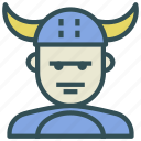 avatar, human, viking, warrior icon