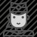 air, attendent, avatar, female, human, plane icon
