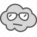 avatar, cloud, cool, face, guy, sunglasses icon