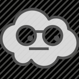 avatar, cloud, dork, glasses icon