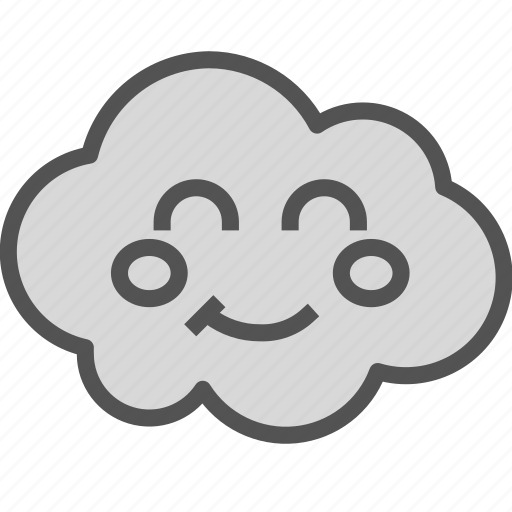 avatar, cloud, face, happy icon