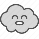 avatar, cloud, happy, kid icon