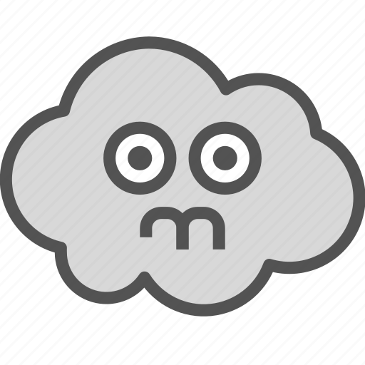 avatar, cloud, ghost, scared icon