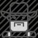 avatar, cowboy, farm, human icon