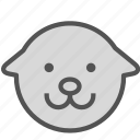animal, avatar, dog, goldretriever icon