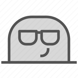 avatar, cool, face, glasses, mole icon