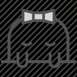 avatar, bowtie, face, girly, mole icon