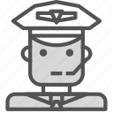 avatar, commercial, human, pilot, plane icon