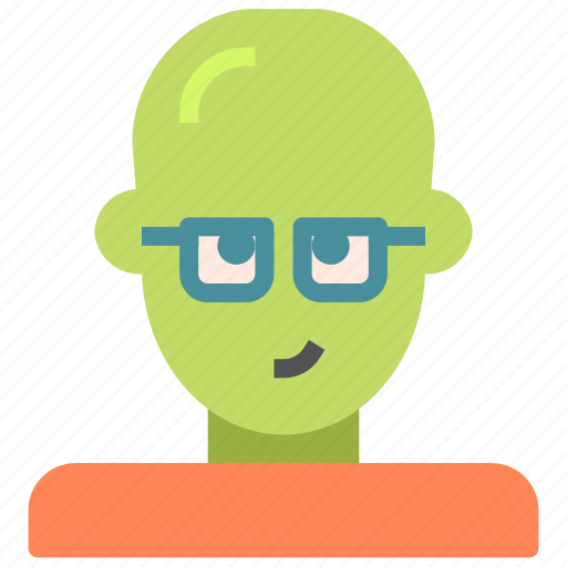 alien, avatar, glasses, humanoid icon
