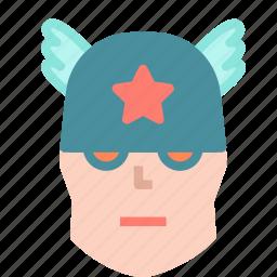 american, avatar, captain, humanoid, superhero icon