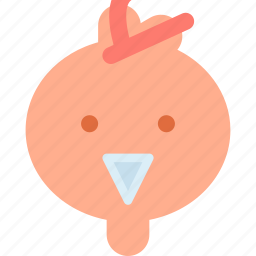 animal, avatar, chic, chicken icon