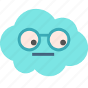 avatar, cloud, dork, glasses icon
