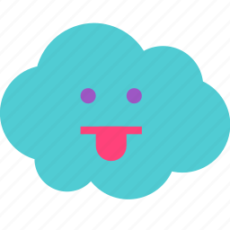 avatar, cloud, silly, tounge icon