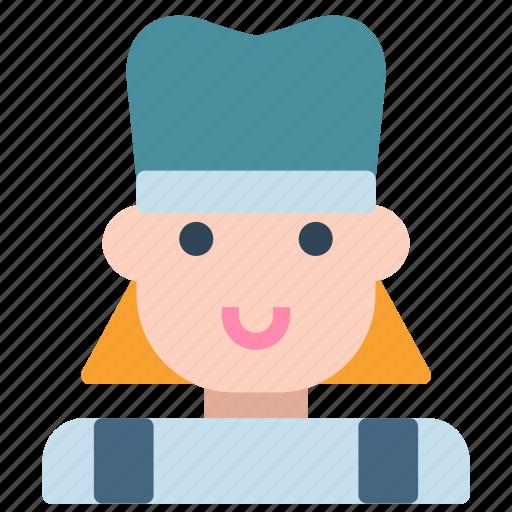 avatar, chef, cook, female, human icon