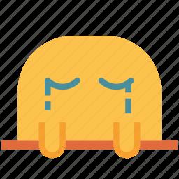 avatar, crying, face, fictional, mole, sad icon