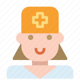 avatar, cross, female, human, nurse icon