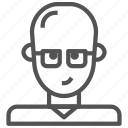 alien, avatar, glasses, humanoid icon
