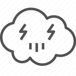 avatar, cloud, electric, lightning, sign icon