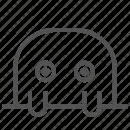 animal, avatar, fictional, mole, silly icon