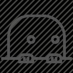 avatar, face, mole, shocked icon